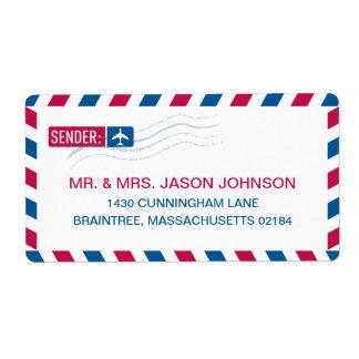 Airmail RETURN ADDRESS Mailing