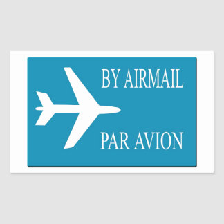Airmail sticker effect