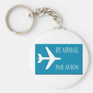 Airmail sticker effect key ring