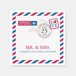 Airmail | Wedding Reception Paper Napkins