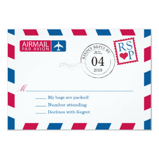 Airmail | Wedding RSVP Card