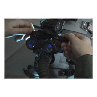 Airman adjusts the eyespan photographic print