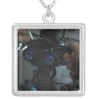 Airman adjusts the eyespan silver plated necklace