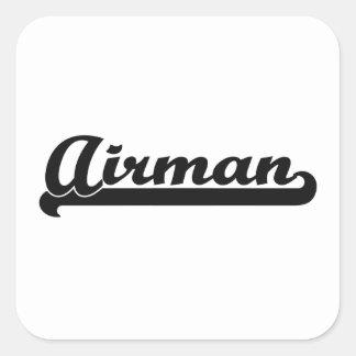 Airman Artistic Job Design Square Sticker