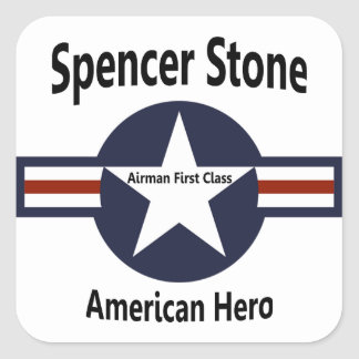 Airman First Class Spencer Stone American Hero Square Sticker