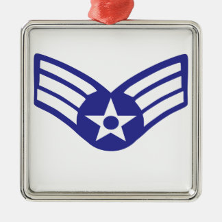 Airman Senior Class USA Airforce Silver-Colored Square Decoration