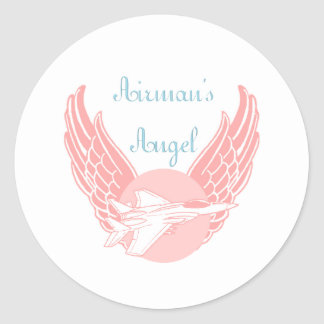 Airman's Angel Round Sticker