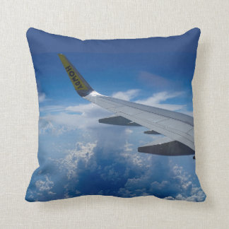 Airplane above the Clouds Cushion