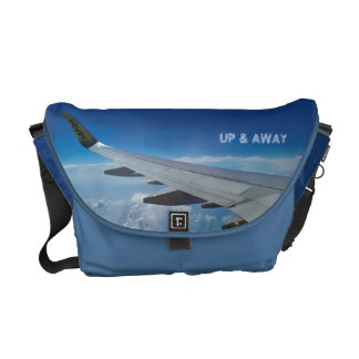 Airplane above the Clouds (customizable) Messenger Bag