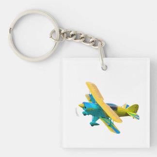 Airplane Acrylic Keychain