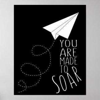 airplane aeroplane inspirational poster art print