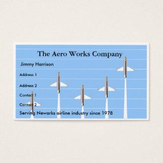 Airplane Airline Aeronautics Aviation Business Card