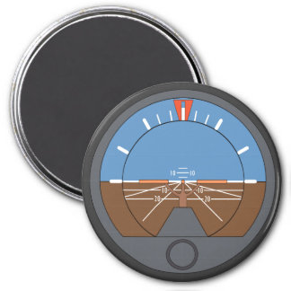 Airplane Altitude Indicator for Nerd Geeks 7.5 Cm Round Magnet