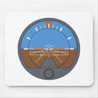 Airplane Attitude Indicator Mouse Mat