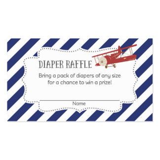 Airplane Baby Shower Diaper Raffle Tickets Pack Of Standard Business Cards