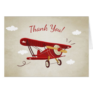 Airplane Baby shower Thank you card Adventure