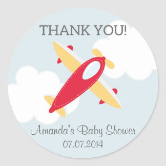 Airplane Baby Shower Thank You Stickers