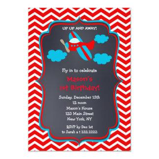 Airplane Birthday Party Invitations