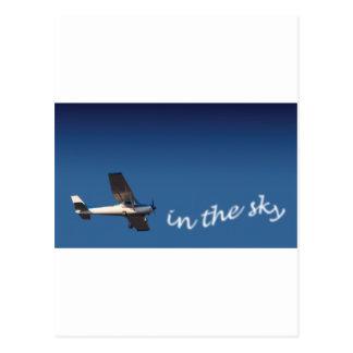 Airplane card postcard
