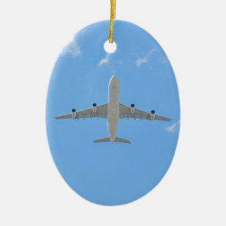 Airplane Ceramic Oval Decoration