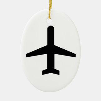 Airplane Ceramic Oval Decoration