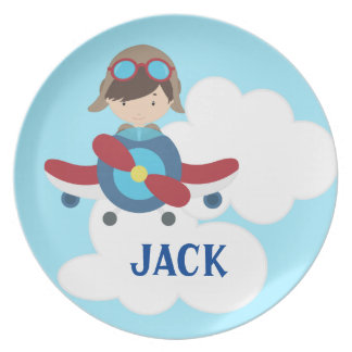 Airplane Children's Melamine Plate