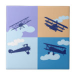 Airplane collage on pastel colors. ceramic tiles