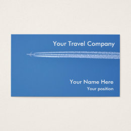 Passenger business cards business card printing zazzle uk airplane contrails air travel business card reheart Images