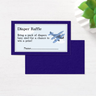 Airplane Diaper Raffle Tickets, Clouds and Sky Business Card