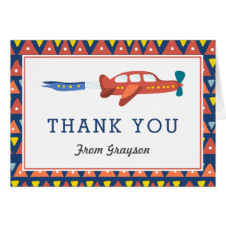 Airplane Fun Personalized Thank You Note Card