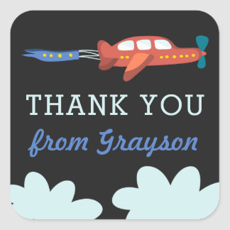Airplane Fun Personalized Thank You Stickers