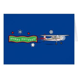 Airplane Happy Holidays Greeting Card