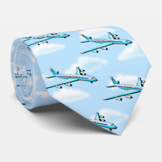 Airplane In Clouds Tie