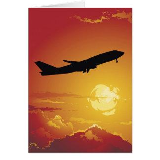 Airplane in Flight Greeting Card