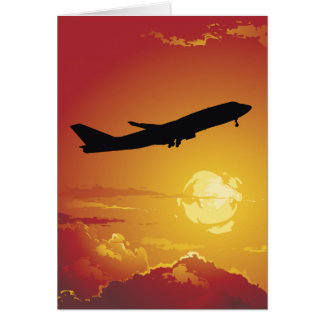 Airplane in Flight Note Card