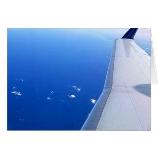 Airplane in Sky Photo Blank-Inside Card