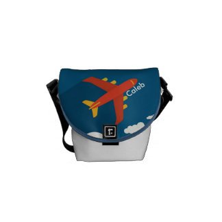 Airplane in the Blue Sky Kid Pilot Personalized Courier Bags
