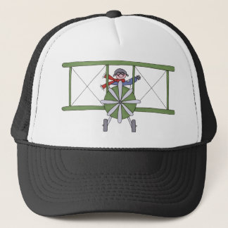 Airplane in the clouds trucker hat