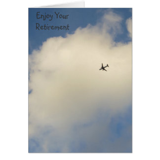Airplane in the Sky Retirement Card