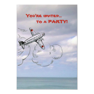 Airplane Invitation | Jet in the Clouds
