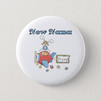 Airplane It's a Boy New Nana 6 Cm Round Badge