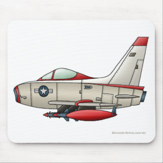 Airplane Jet Fighter Military Aircraft Mouse Pad