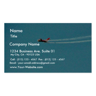 Airplane Jet Mig Business Card Templates