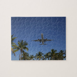 Airplane landing in Miami Jigsaw Puzzle