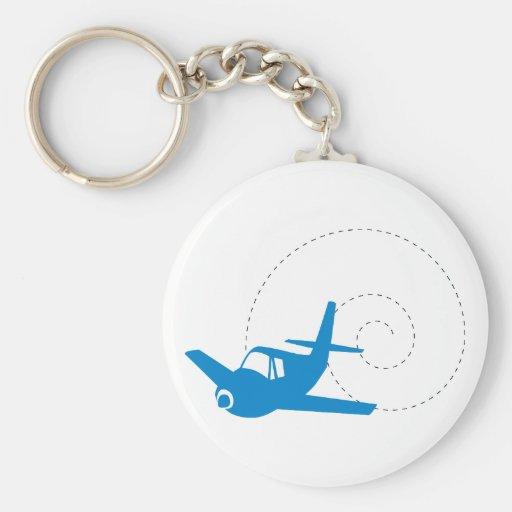 Airplane Loop Keychain