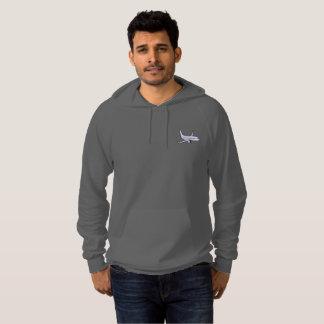 Airplane Men's Pullover Hoodie -Grey