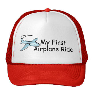 Airplane My First Airplane Ride Mesh Hats