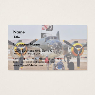 Airplane On Airshow Business Card