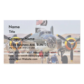 Airplane On Airshow Pack Of Standard Business Cards