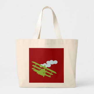Airplane on plain red background bag